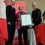 Margaret Ann Prince (centre) receiving Lifetime Membership.